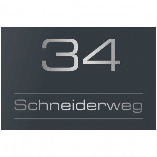 Buddel-Bini Aluminium Hausnummernschild 3 Aluschild 1 mm St/ärke Alu Schild