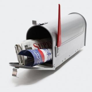 US Mailbox Amerikanisches Design Silber Briefkasten Standbriefkasten