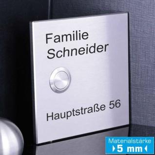 Edelstahl Haustürklingel 100x100mm Premium Qualität