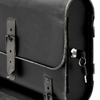 Nostalgie Briefkasten Schulranzen mit Zeitungsrolle Antik-Look Schwarz/Silber - Vorschau 3