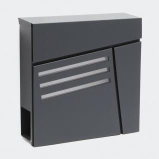 edelstahl briefkasten mit hausnummer online kaufen yatego. Black Bedroom Furniture Sets. Home Design Ideas