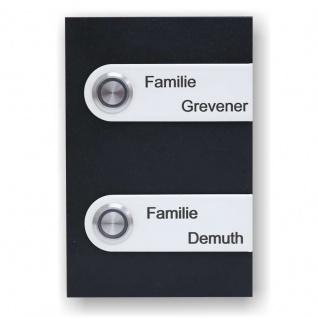 Türklingel Edelstahl 100x150mm schwarz weiß pulverbeschichtet