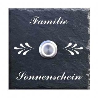 Türklingel Schiefer 100x100mm Ornamente