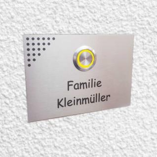 Design Klingelplatte Edelstahl 100x70mm mit Dekoobjekt