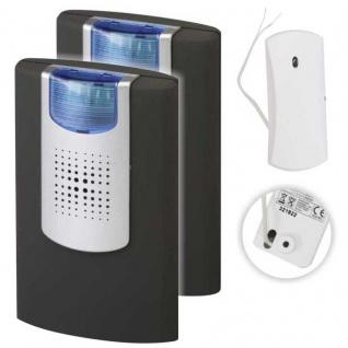 2 Stück Funkklingel EMPFÄNGER HX FLASHLIGHT incl. Funkweiterleitungsmodul Betrieb: Batterie