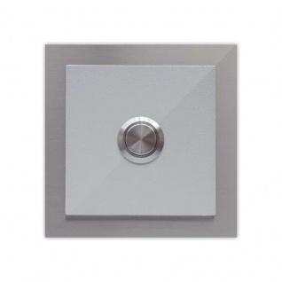 Türklingel Silber 100x100mm pulverbeschichtet Silber RAL 9006 metallic