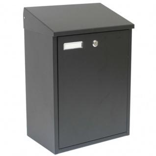 Briefkasten Postkasten Paketbox Paketkasten Extra Groß Schwarz