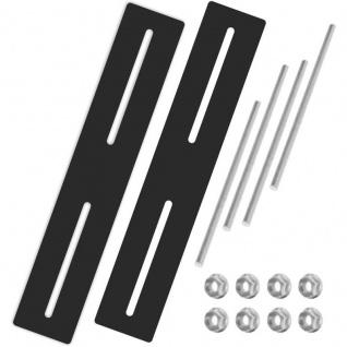 Universal Briefkasten Befestigungs Set für Zäune Stabmattenzäune