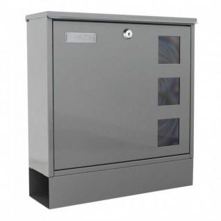Edelstahl Briefkasten Design Mailbox Postale Grau