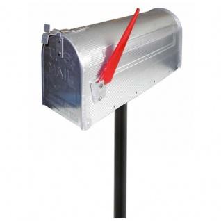 Amerikanischer Briefkasten US Mailbox Alu Silber mit STANDFUß