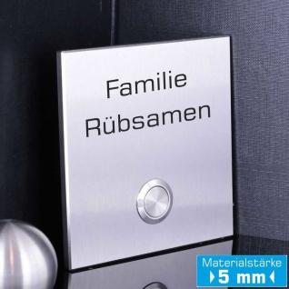 Design Klingelschild 100x100mm in Premium Qualität