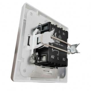 Unterputz Wipptaster mit Namensschild silber 0-250V~/ 10A, inkl. Rahmen - Vorschau 3