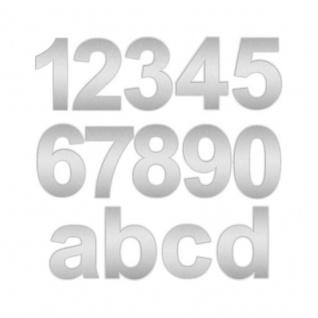 Zalafino® Edelstahl Design Hausnummer fein geschliffen 10 cm Höhe