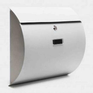 Briefkasten SILBER Wandbriefkasten Postkasten Auerbach