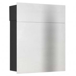 LCD Premium Briefkasten Edelstahl Korpus schwarz (RAL 9005)