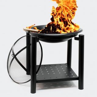 Feuerstelle 50x50cm rund Feuerkorb Feuerschale Brennschale Grillfeuer