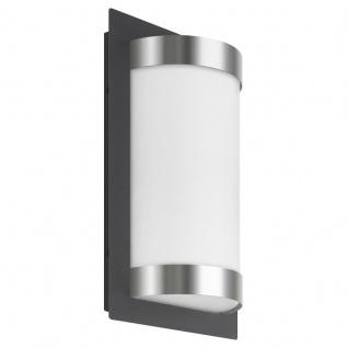 LCD Wandleuchte LED mit Bewegungsmelder Edelstahl-Graphit Typ 061LEDSEN 13 Watt