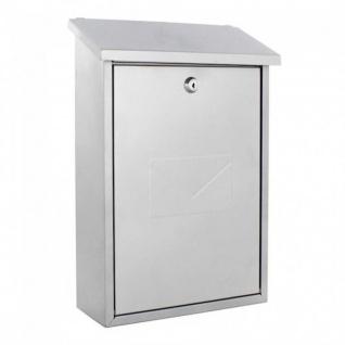 Edelstahl Briefkasten Design Mailbox Parma silber