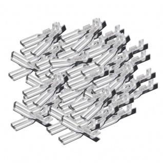 Flachsteckhülsen 100 Stück 28mm 05 15mm² unisoliert SPARPACK
