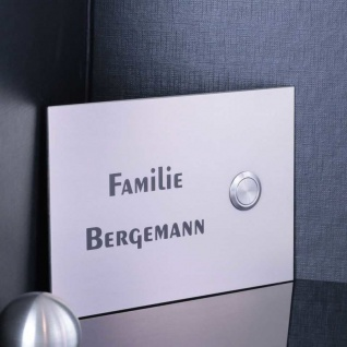 Design Haustürklingel Edelstahl 160x110mm