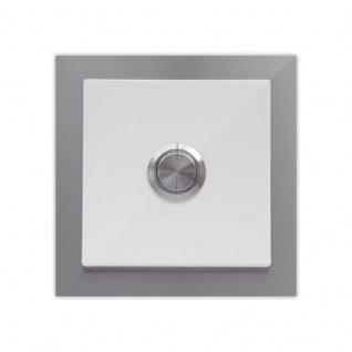Türklingel weiß 100x100mm pulverbeschichtet reinweiß RAL 9010
