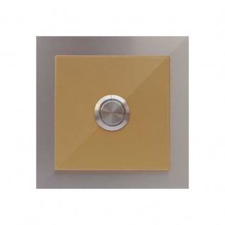 Türklingel Perlgold 100x100mm pulverbeschichtet Gold RAL 1036