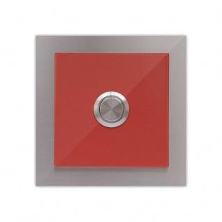 Türklingel Rot 100x100mm pulverbeschichtet Feuerrot RAL 3000 Seidenglanz