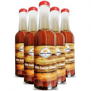 1 Flasche Wäller BBQ Sauce Classic servierfertig 250 ml VEGAN , Grundpreis: 3.00 € pro 100 ml