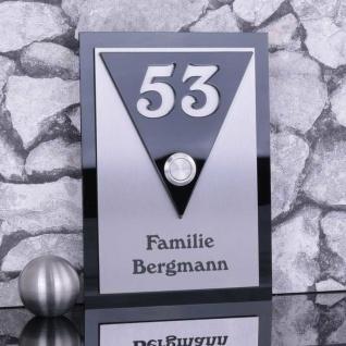Design Türklingel 130x180mm mit Acrylglas schwarz glänzend