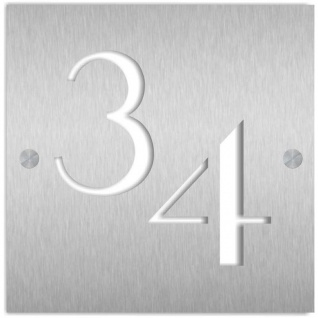 Zalafino® Moderne Edelstahl Hausnummer Design CUT in verschiedenen Größen