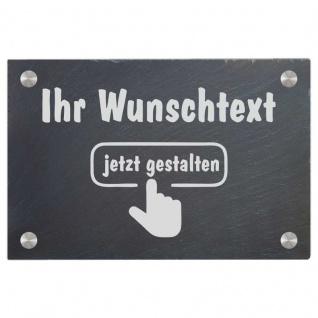 Türschild aus Natur Schiefer 300x200 mm inkl. Beschriftung Frei gestaltbar