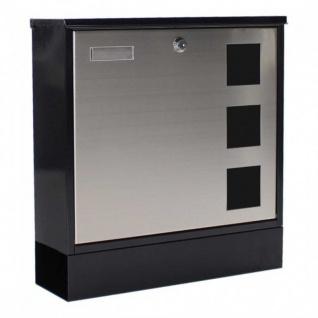 Edelstahl Briefkasten Design Mailbox schwarz