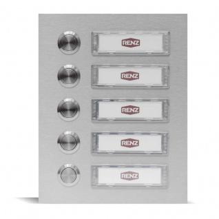 Fünffamilien Türklingel 145x180mm mit wechselbaren Namensschildern