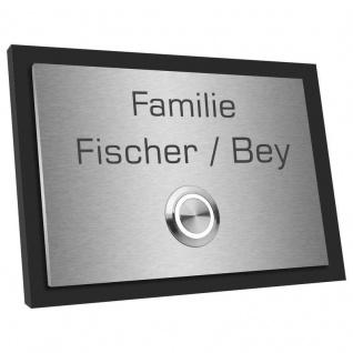 Edelstahl Haustürklingel 120x90mm mit Acrylglas schwarz