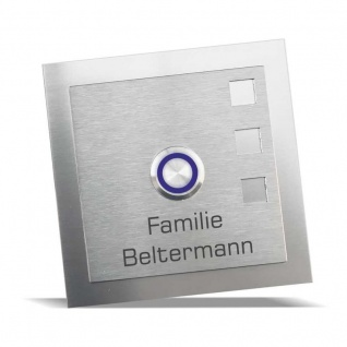 Edelstahl Türklingel 100x100mm Klingelschild Baltic