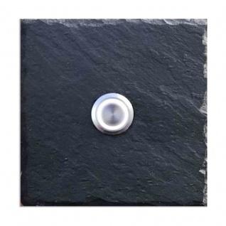Klingelschild Schiefer 100x100mm Blanko
