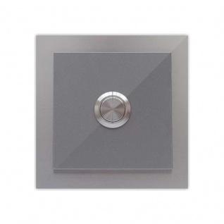 Türklingel 100x100mm pulverbeschichtet Silber grau metallic RAL 9007
