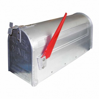 US Mailbox Amerikanisches Design Retro aus Alu silber Briefkasten Standbriefkasten