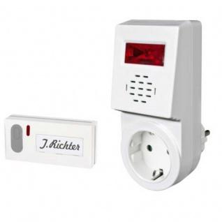 Funk-Türglocke für Gehörgeschädigte & Lichtanzeige und Durchgangssteckdose