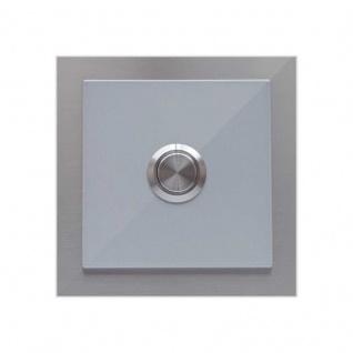 Türklingel Silber 100x100mm pulverbeschichtet Silber RAL 9006