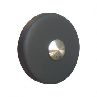 Aufputz Türklingel rund 76mm Durchmesser RAL7016 anthrazit grau
