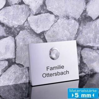 Design Klingel Edelstahl 100x70mm in Premium Qualität