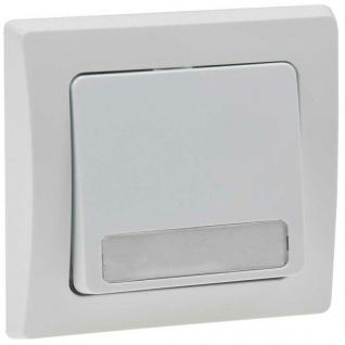 Unterputz Wipptaster mit Namensschild weiß 0-250V~/ 10A, inkl. Rahmen