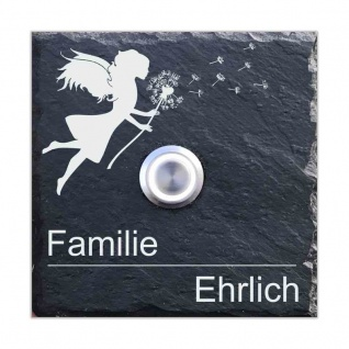 Schiefer Klingel 100x100mm Fee