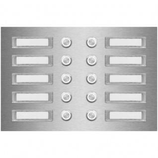 Zehnfamilien Türklingel 270x180mm mit wechselbaren Namensschildern