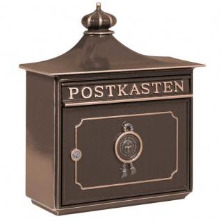 Briefkasten Mailbox Bordeaux aus robustem Alu-Guss Bronze