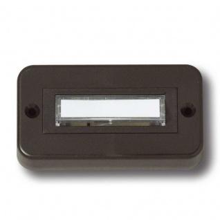 Klingelplatte Aufputz aus Kunststoff schwarzbraun unbeleuchtet