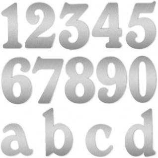Zalafino® Edelstahl Design Hausnummer fein geschliffen 17 cm Höhe VA