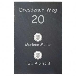 Design Türklingel Schiefer 150x200mm mit Strassennamen