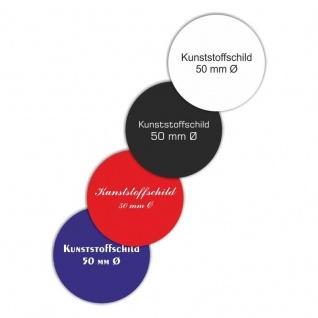 Kunststoffschild / Ronde 40 mm Ø Rund